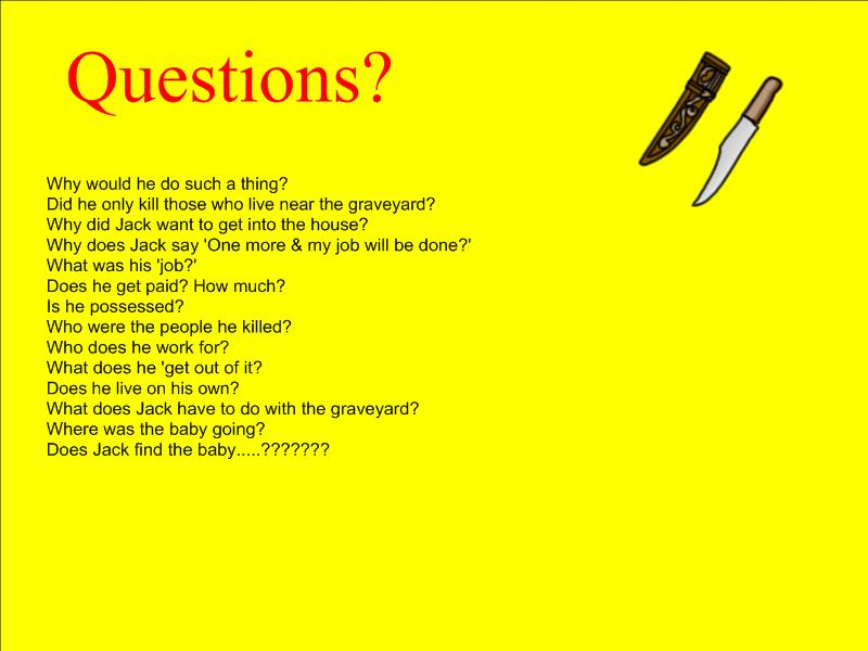 the graveyard book essay questions View the complete teacher guide here: http://wwwstoryboardthatcom/teacher- guide/the-graveyard-book-by-neil-gaiman | see more ideas about glyphs, fandom this presentation is designed to introduce your students to the elements of an organized essay, including the introduction, the thesis, body paragraphs, topic.