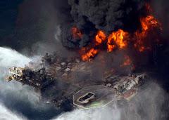 hundimiento de la plataforma de petroleo deep water horizon