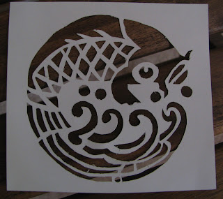 how to make a stencil out of wax paper