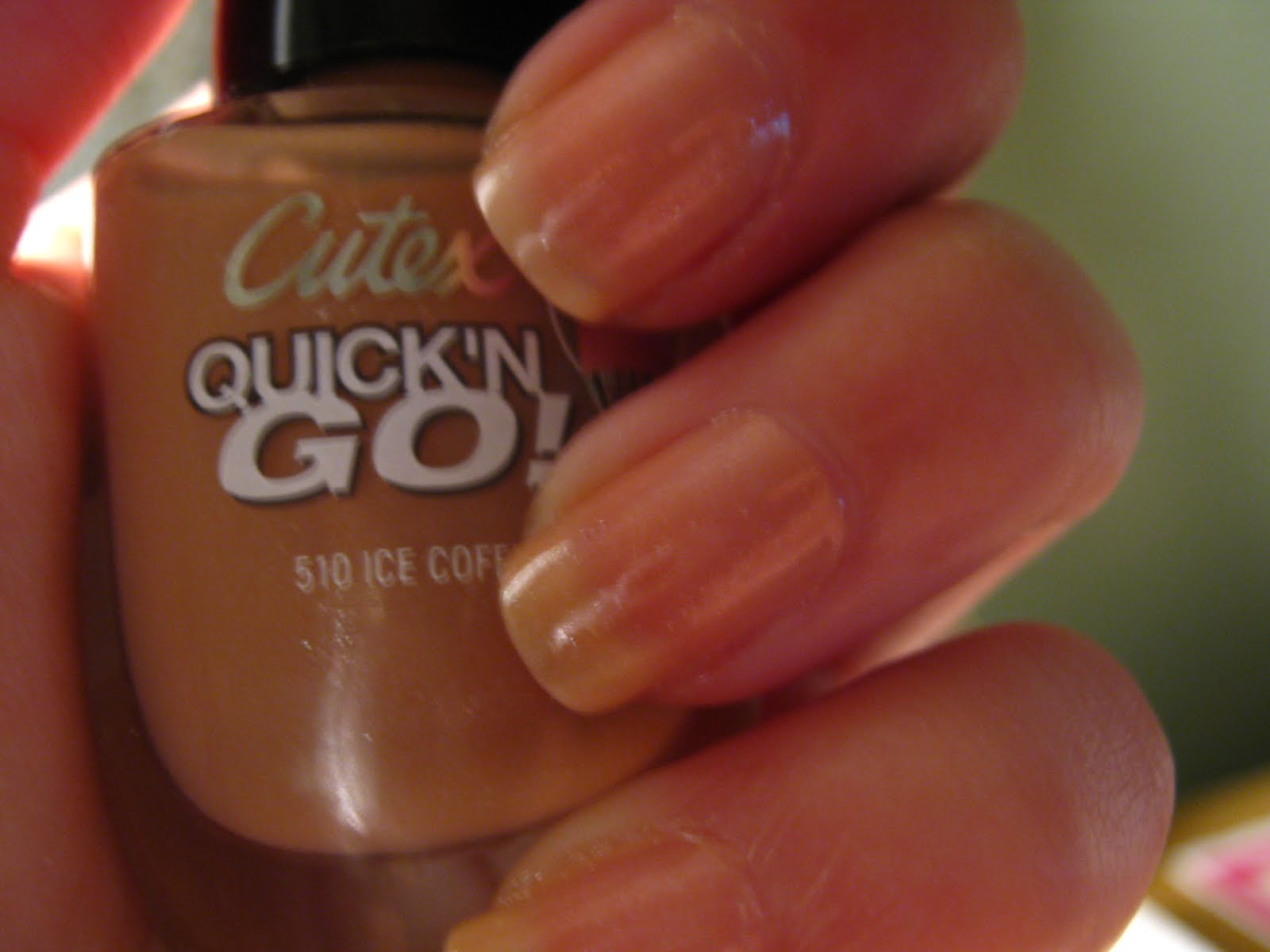 Jade goes with everything.: Nude nail polish