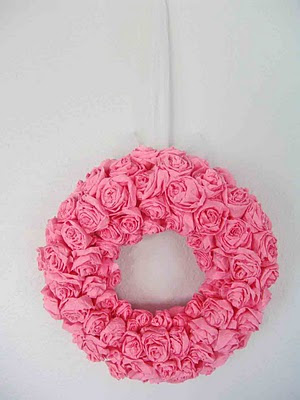 crepe paper flowers how to make. crepe paper wreath