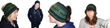 handknit moose hat headband