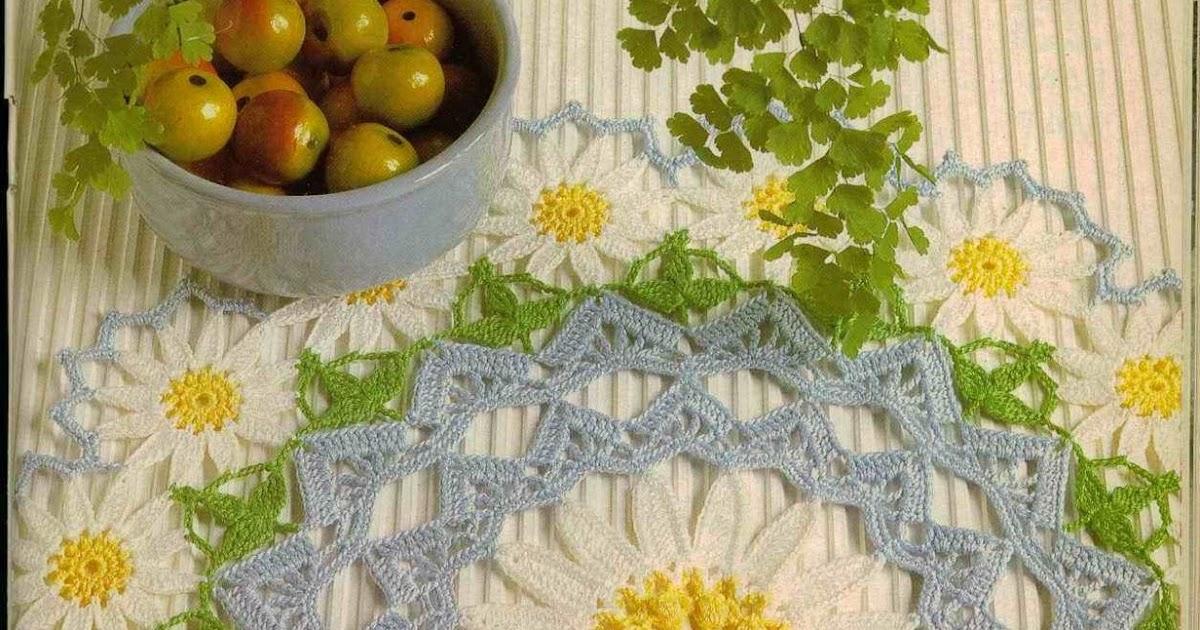 Amicrochet tapete de margaritas for Tapete en ingles