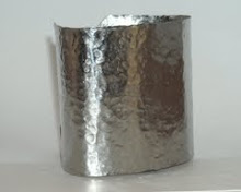 Hammered Stainless Steel Cuff - extra wide!