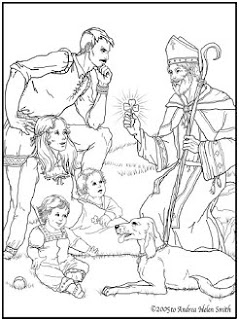 christian st patrick coloring pages - photo#23