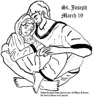 Catholic icing st joseph 39 s feast day fun for St joseph coloring page