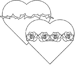Sacred and immaculate hearts crafts food and more for Sacred heart of jesus coloring page