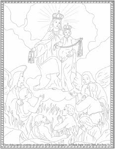 Our Lady of Mt Carmel Coloring Sheets