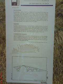 cartel puente de San Miguel Jaca