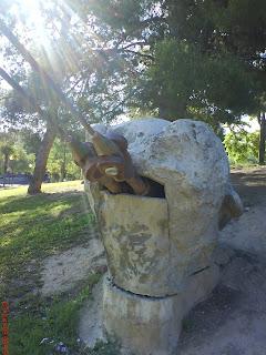 cabeza Parque de la Paz Zaragoza