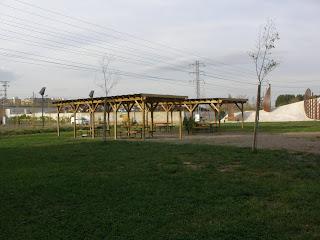 porches parque ribera Ebro