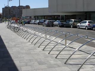 aparcamiento para bicicletas aparcabicis Estación intermodal Delicias Zaragoza
