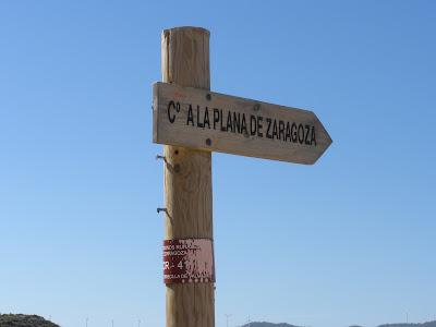 camino a la Plana de Zaragoza