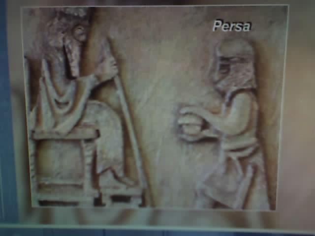 mural egipcio en alto relieve