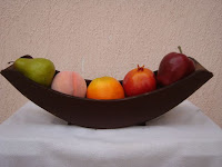 "DECORACIONES ""KIVER"": FRUTEROS DE MADERA EN COLOR CHOCOLATE"