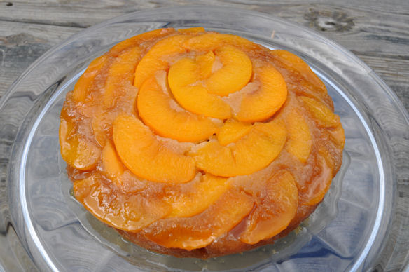 Baking with Susan: My Mom's Peach Upside-down cake