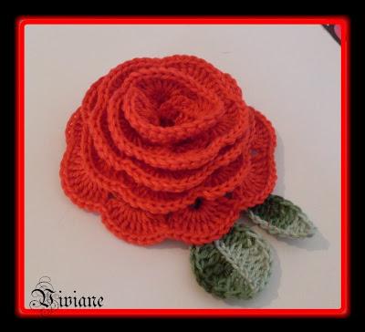 crochet rose paso a paso