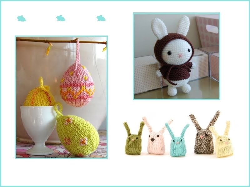 Knitted + Sewn Easter Egg Ornaments! - Knitting Crochet Sewing