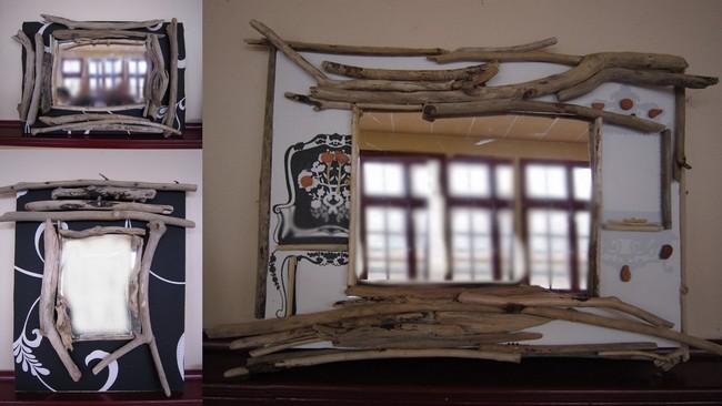 loisirs cr atifs d 39 assat les miroirs en bois flott. Black Bedroom Furniture Sets. Home Design Ideas