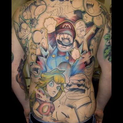 Final Fantasy Back Tattoo