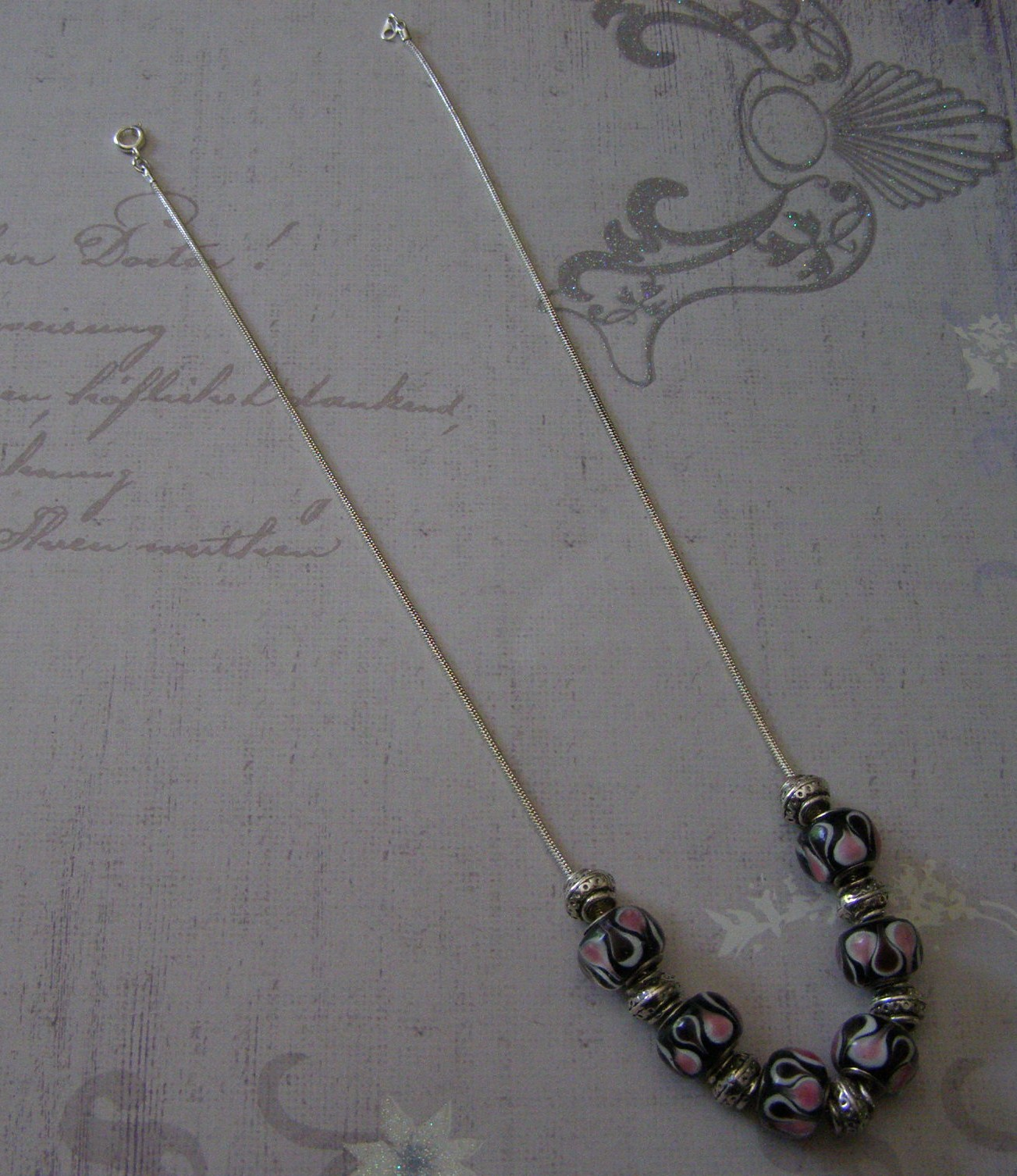 easy pearl beaded star potato dust necklace and with sterling twin silver single clasp