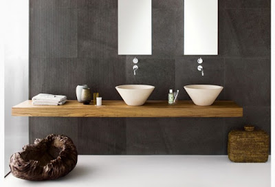 floating double sink