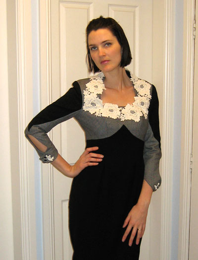 Site Blogspot  Winter Wedding Dresses on Wore The Black And Cream Winter Dress To A Wedding This Past Weekend