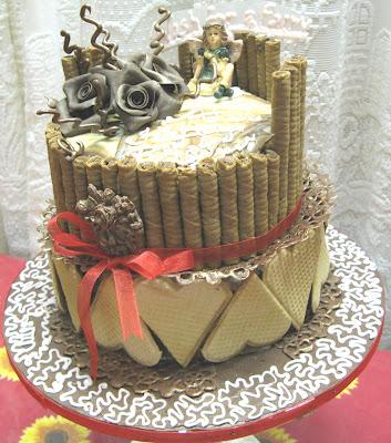 Sugarcraft by Soni TwoTier Birthday Cake Chocolate Ganache