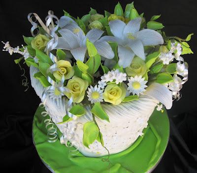 Wedding Cakes Basket of Flowers Dedicated to Scott Clark Wooley