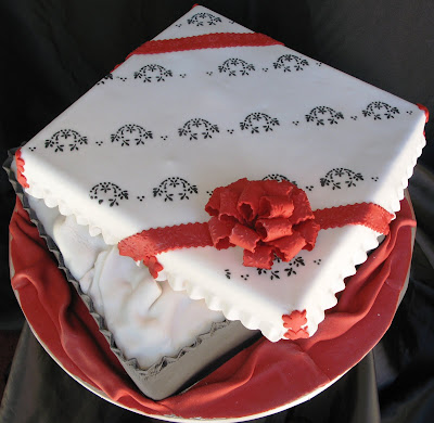 Two Tier Birthday Cakes Celebrating Husband S And Wife S Birthday