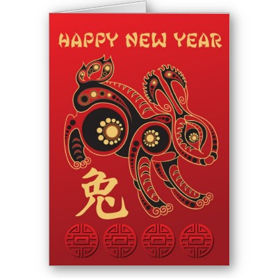 Happy Chinese New Year Card Rabbit. Happy Chinese New Year 2011.