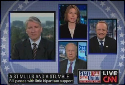 John King Paul Begala David Gergen Nicolle Wallace CNN State of the Union February 15, 2009