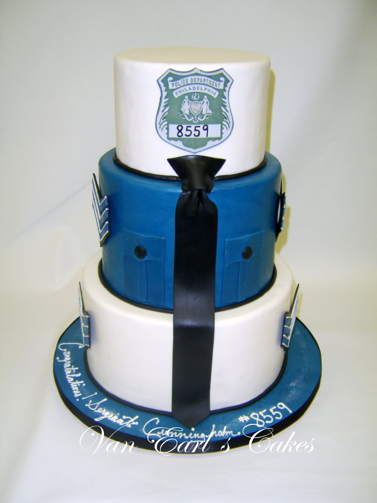 Policeman Cake Design : Pin Policeman Wedding Cake Topper Just Married By ...