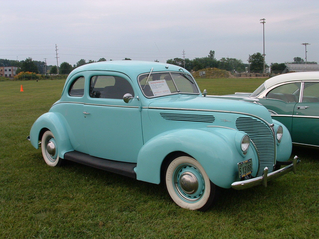 1938 Ford Deluxe Club Coupe.