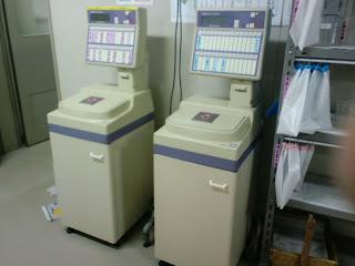 写真: 病棟で使われていた自動尿量測定装置