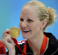 Kirsty Coventry and Her Gold Medal from the Women's 200 Meters Backstroke – Beijing Olympics 2008