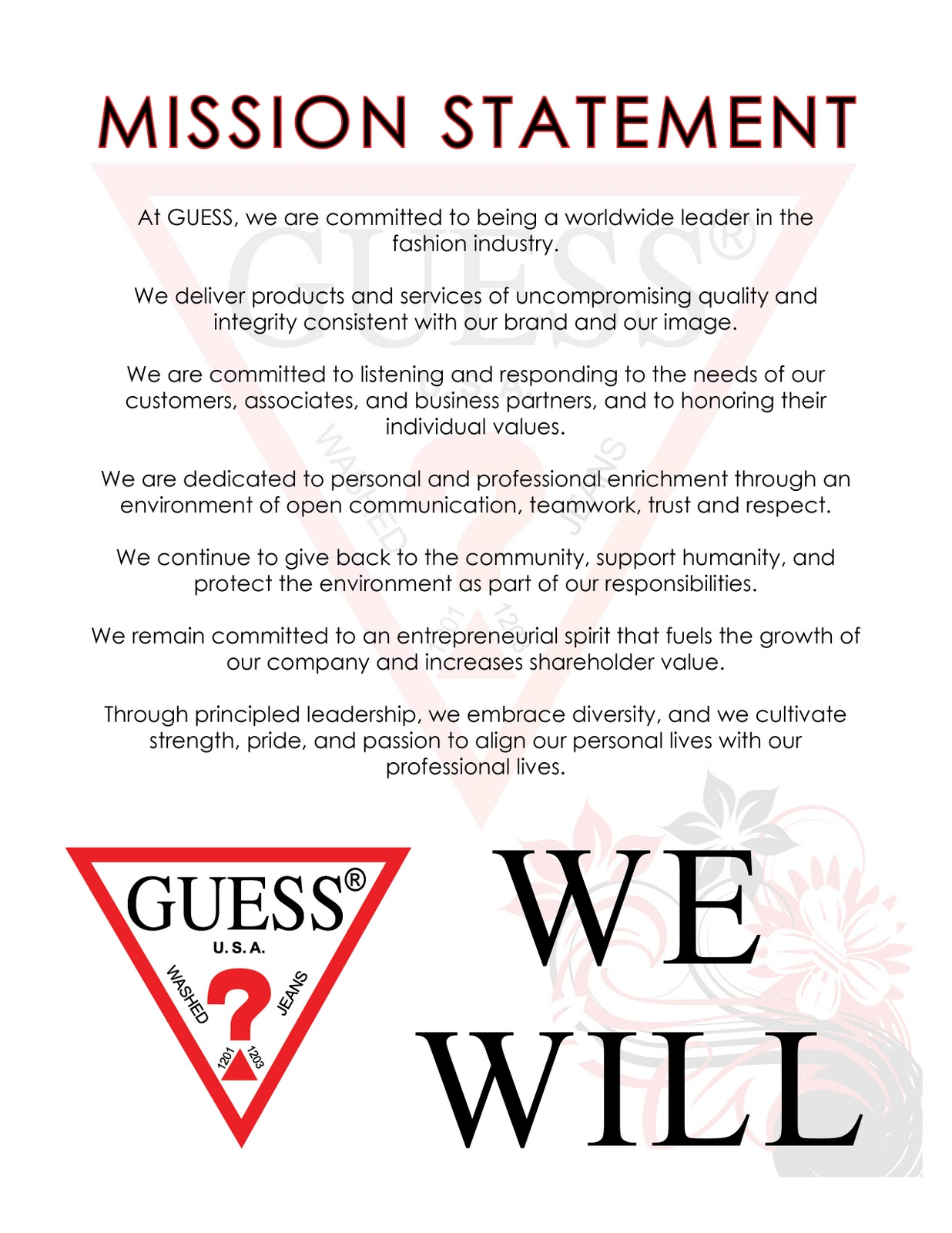 branding by daga guess mission statement guess mission statement