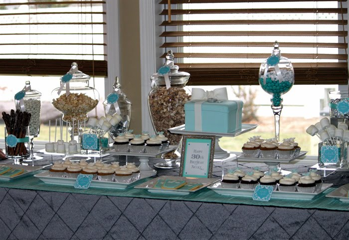 Nicoles Tiffany Theme 30th Birthday Sweets Table