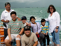 Dr Yaacob Ibrahim, Minister for the Environment and Water Resources, Singapore, with family and friends