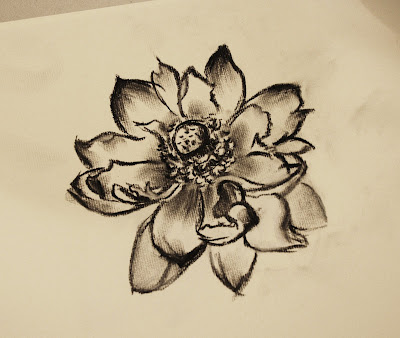 black and white tattoos of lilies. studio lack, Blue+lilies+