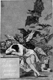 O sono da razão produz monstros - Francisco de Goya