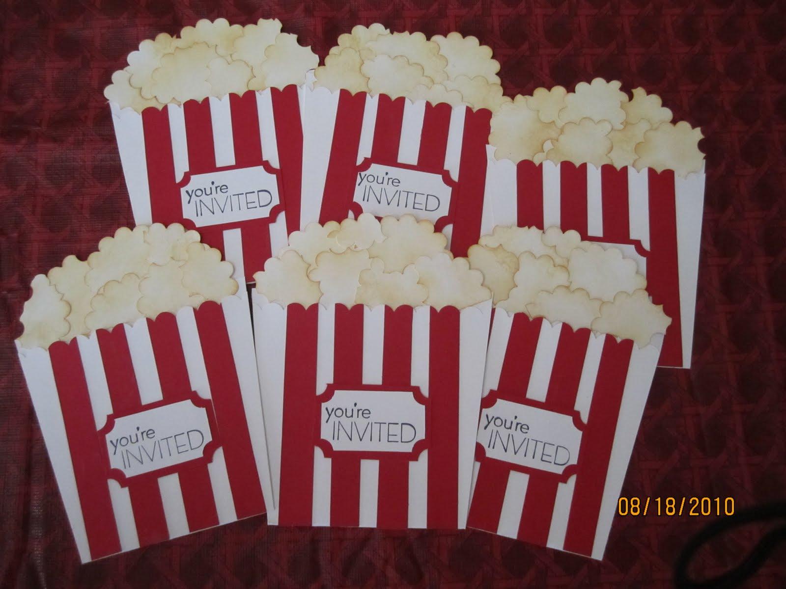 My creative space popcorn invites popcorn invites filmwisefo