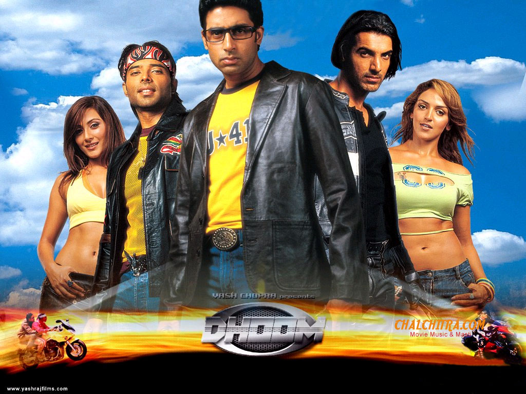 bollywood block buster move dhoom movie mp3 songs frere download and