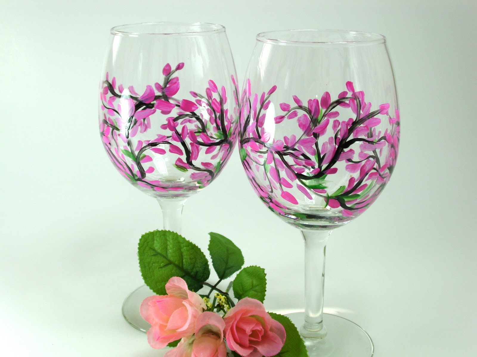 Heart and home more hand painted wine glasses Images of painted wine glasses