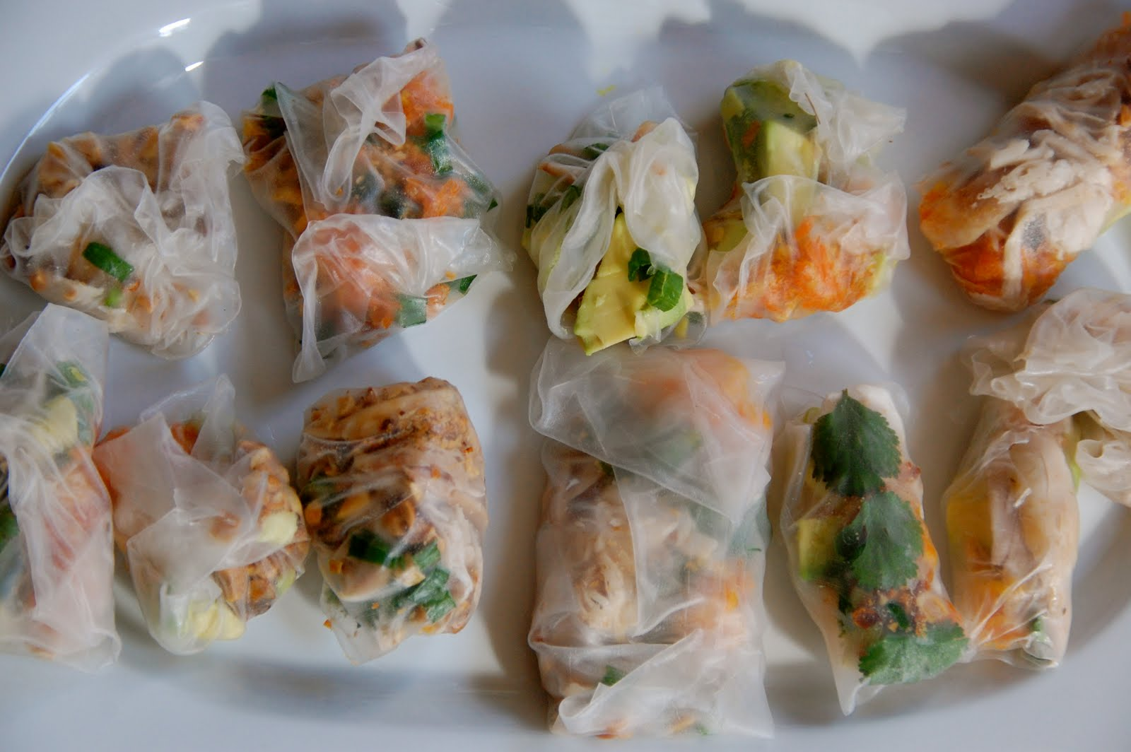 Mini Spring Rolls With Chicken Floss Recipes — Dishmaps
