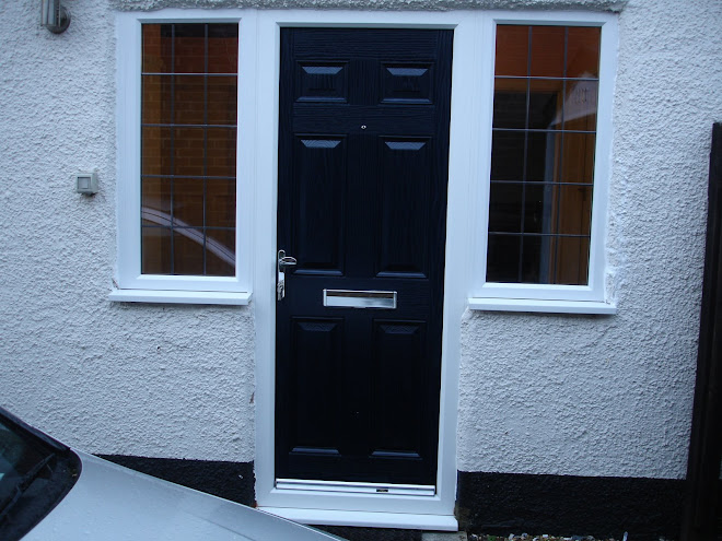 Composite Door - Blue on white