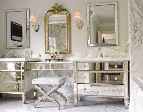 Pier One Bedside Table perfect gray: mirrored furniture...