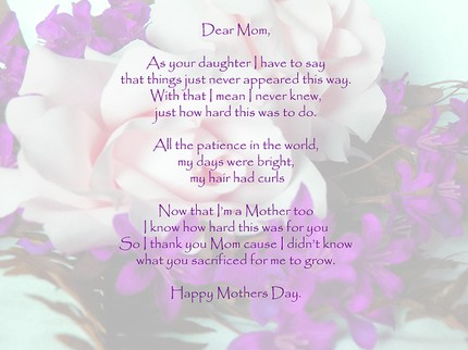 mothers day poems for cards. mothers day cards for kids.