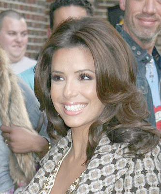 Eva Longoria Exiting the Late Show With David Letterman