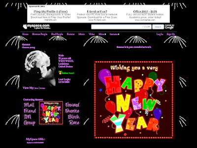 New Year Myspace Layouts